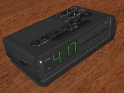 3d clock alarmclock radio model