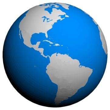 globe sea 3d model