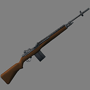 m14 rifle 3d obj