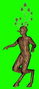 3d polygonal wooden model