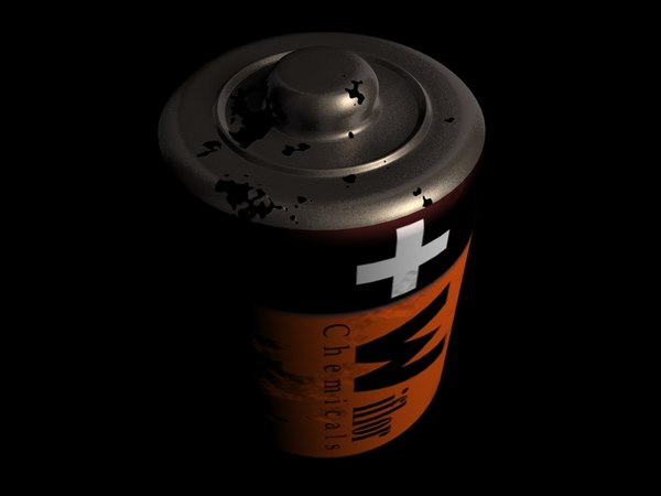free battery 3d model