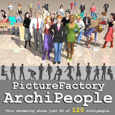 archipeople zipped 3d model