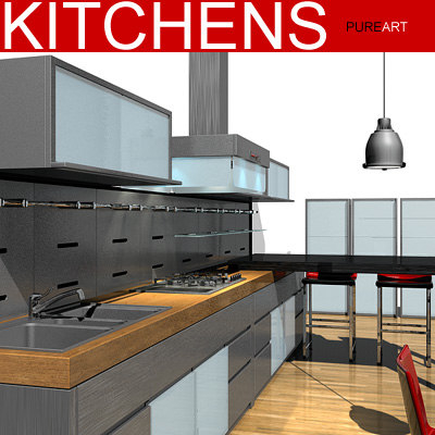 cabinets hood tables 3d model