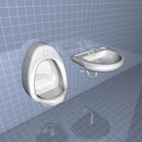 urinal sink 3d max