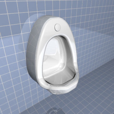 3d model urinal bathroom man