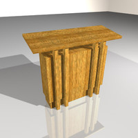 podium speaker church 3d model