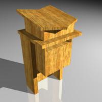 3d model podium speaker church