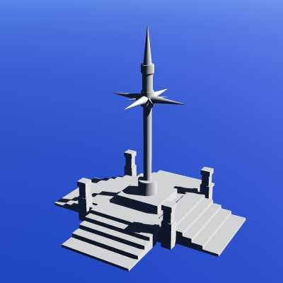 3ds max shrine building fantasy