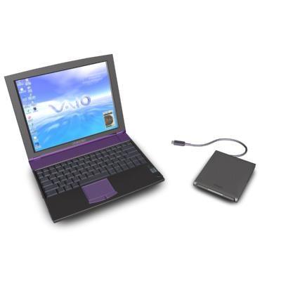 sony slimtop laptop 3d max