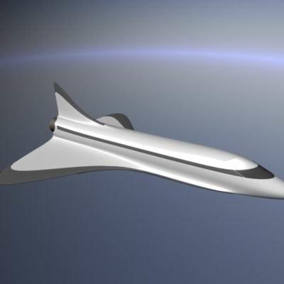 shuttle plane 3d ma