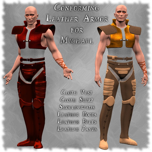 cloth azzin leather 3d model