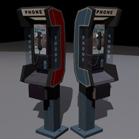 payphone phone 3d 3ds