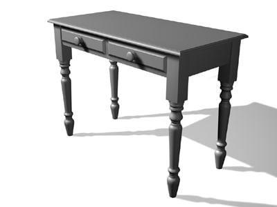 dressing table 3d model