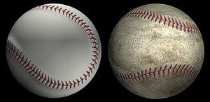 baseball ball base 3d model