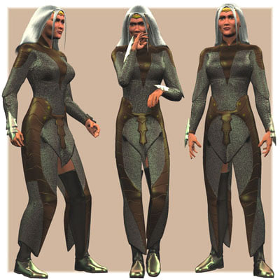 elven armor 3d model