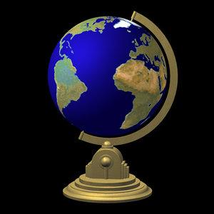 c4d globe alpha continents