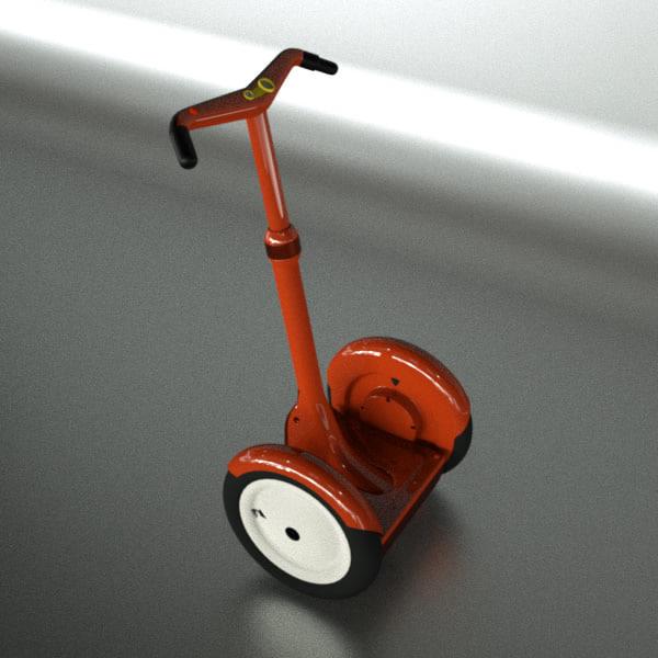 segway wheels 3d model