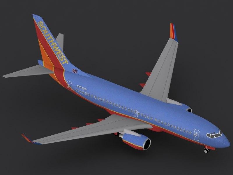 b 737-700 southwest c4d
