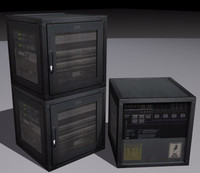 server computer 3d model