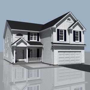 house exterior 3d 3ds