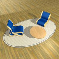 3d model chairs strange