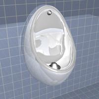 3d urinal bathroom man model