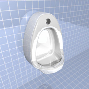 urinal bathroom man 3d model