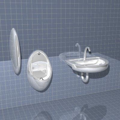 3d model urinal bathroom man