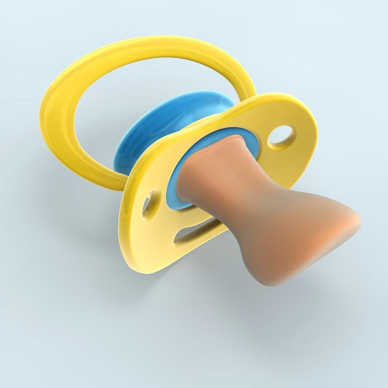 3d model pacifier