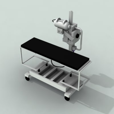 3d model of dr900 digital radiography
