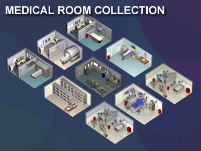medical rooms 3d model