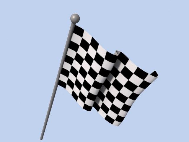 checker race flag 3d model