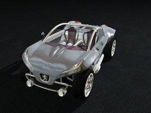 peugeot hoggar 3d model