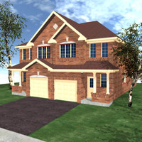 semi detached home 3d model