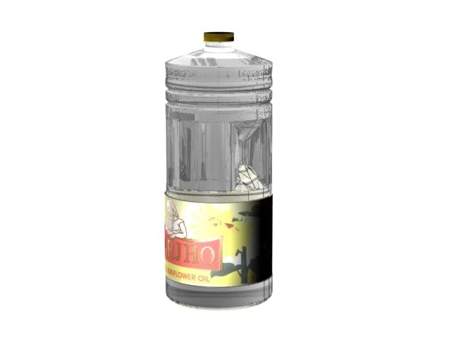 3d oil botle model
