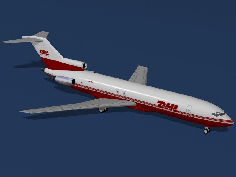 3d b 727-200 f dhl model