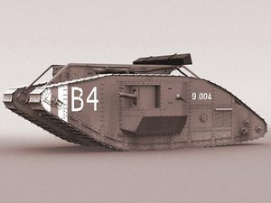british mk iv tank 3d model