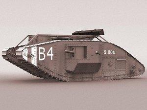 british mk iv tank 3d model