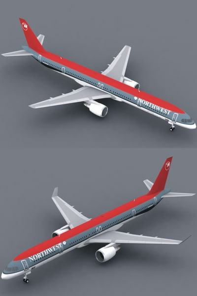 b 757-300 northwest lwo