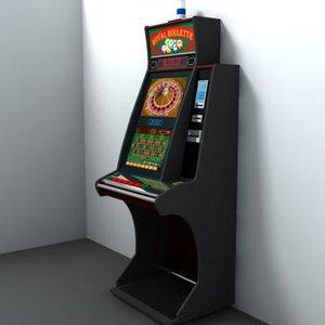 3d model casino playing machine