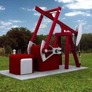 oil jack 3d model