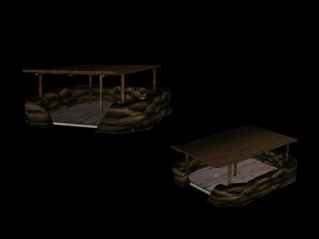 3d model command bunker
