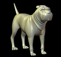 3d model dogs canine