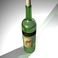 chardonnay wine bottle 3d model
