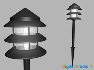 max 3 tier landscape light