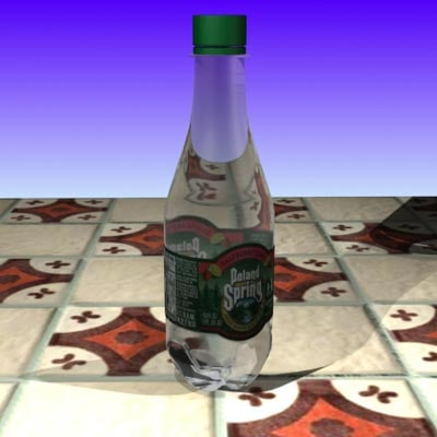 spring water bottle 3d model
