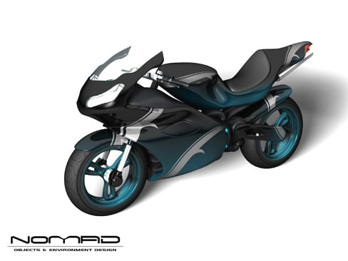 yamaha motorcycle 3d model