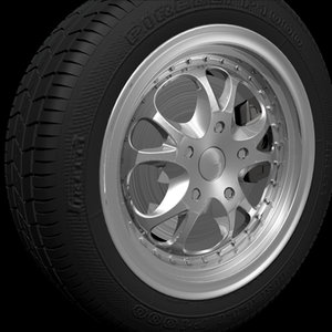 wheel tire 3d max