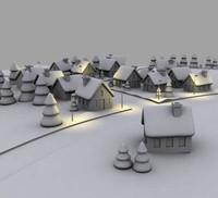 village street snow max
