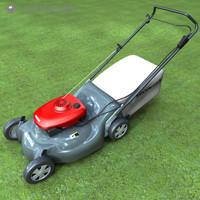 lawnmower lawn mower 3d c4d